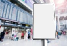 Panneau d'affichage vertical dans l'aéroport illustration de vecteur