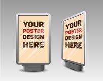 Panneau d'affichage vertical réaliste de vecteur pour votre conception Images libres de droits