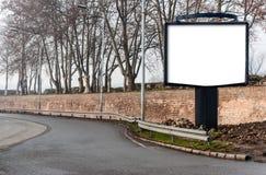Panneau d'affichage vide Images stock