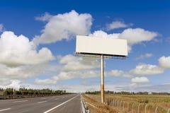 Panneau d'affichage vide Photo stock