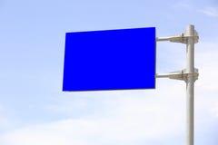 Panneau d'affichage vide Photos stock