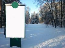 Panneau d'affichage vide Photographie stock