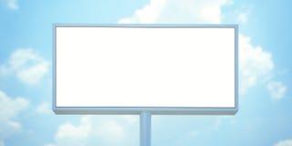 Panneau d'affichage vide avec l'espace pour votre publicité contre le ciel bleu 3d rendent Photographie stock