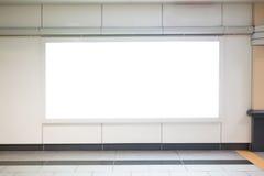 Panneau d'affichage vide dans le MRT Photos stock