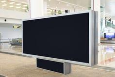 Panneau d'affichage vide de Digital avec l'espace de copie pour faire de la publicité, public images stock