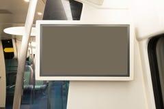 Panneau d'affichage vide de TV Photos libres de droits