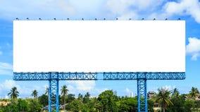 Panneau d'affichage vide prêt pour la nouvelle publicité Photographie stock