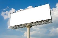 Panneau d'affichage vide prêt pour la nouvelle publicité Photos stock
