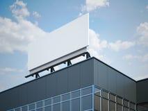 Panneau d'affichage vide sur l'immeuble de bureaux moderne Image stock