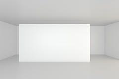 Panneau d'affichage vide vide dans l'intérieur blanc rendu 3d Images stock