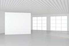 Panneau d'affichage vide vide dans l'intérieur blanc rendu 3d Photographie stock libre de droits