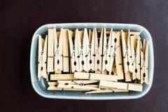 Panneau d'agrafe frais en bois de tissu Image libre de droits