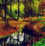 Panneau d'automne Photographie stock libre de droits