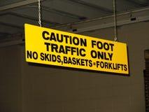 Panneau d'avertissement Photographie stock