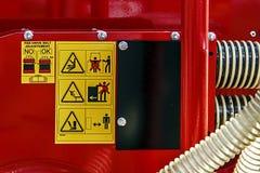 Panneau d'avertissement 3 Image stock