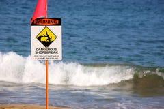 Panneau d'avertissement Images libres de droits
