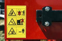 Panneau d'avertissement 2 Photo libre de droits