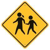 Panneau d'avertissement d'école Images libres de droits
