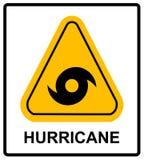Panneau d'avertissement d'ouragan Photographie stock libre de droits