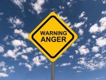Panneau d'avertissement de colère Photos stock