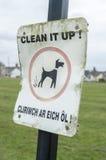 Panneau d'avertissement de désordre de chien Photographie stock libre de droits