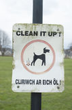 Panneau d'avertissement de désordre de chien Images stock