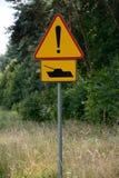 Panneau d'avertissement de réservoir Image stock
