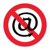 Panneau d'avertissement de Spam Photographie stock libre de droits