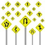 Panneau d'avertissement du trafic  Photo libre de droits
