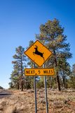 Panneau d'avertissement en dehors de Grand Canyon Images libres de droits