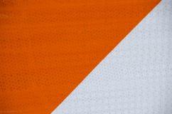Panneau d'avertissement orange et blanc de risque Images stock