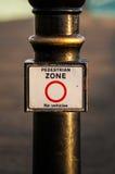 Panneau d'avertissement public Photo stock