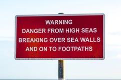 Panneau d'avertissement public Photographie stock libre de droits