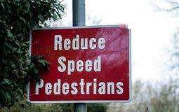 Panneau d'avertissement public Photo libre de droits