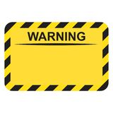 Panneau d'avertissement vide de rectangle illustration libre de droits