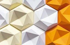 Panneau 3D décoratif dans un intérieur moderne fond 3d géométrique photos stock