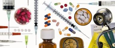 Panneau d'en-tête - sujets médicaux Image libre de droits