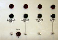 Panneau d'essai nucléaire images libres de droits