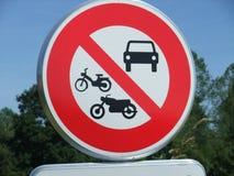 Panneau d'interdiction Image libre de droits