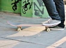 Panneau de béton de planche à roulettes Photo libre de droits