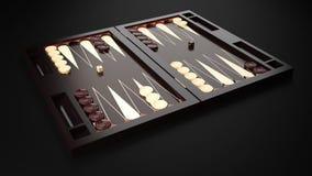 Panneau de backgammon Photographie stock libre de droits