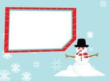 Panneau de bonhomme de neige Images stock