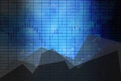 Panneau de bourse des valeurs d'affaires de résumé avec des graphiques comme fond photos libres de droits