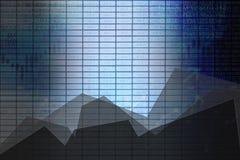 Panneau de bourse des valeurs d'affaires de résumé avec des graphiques comme fond photos stock