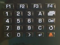 panneau de bouton images libres de droits