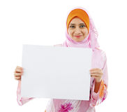 Panneau de carte vierge prêt pour le texte Images libres de droits