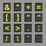 Panneau de chiquenaude d'alphabet illustration stock