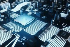 Panneau de Cicruit, intelligence artificielle, AI, concept de réseau neurologique Fond de technologie, fond de la science de tech illustration stock