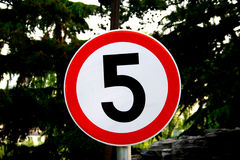 Panneau de cinq graphismes Image libre de droits