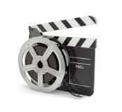 Panneau de clapet avec la bobine de film Images libres de droits